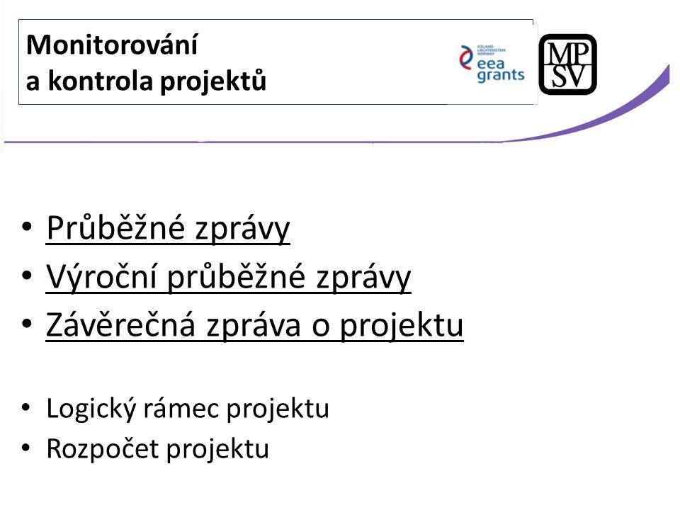 Monitorovací období Termín předložení elektronické verze PZ na MPSV 1 1.