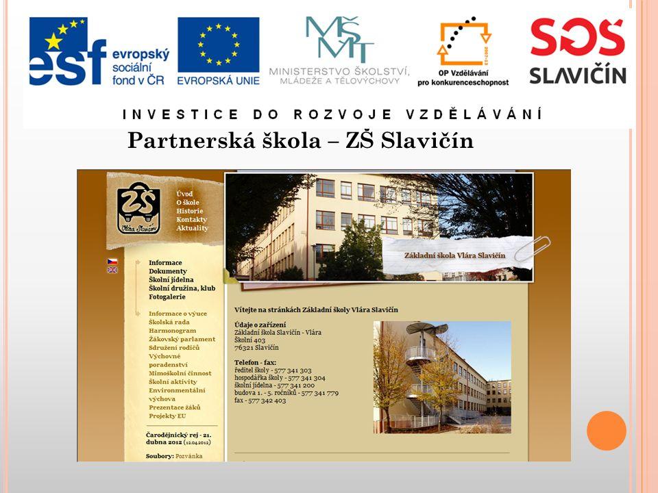 Partnerská škola – ZŠ Slavičín