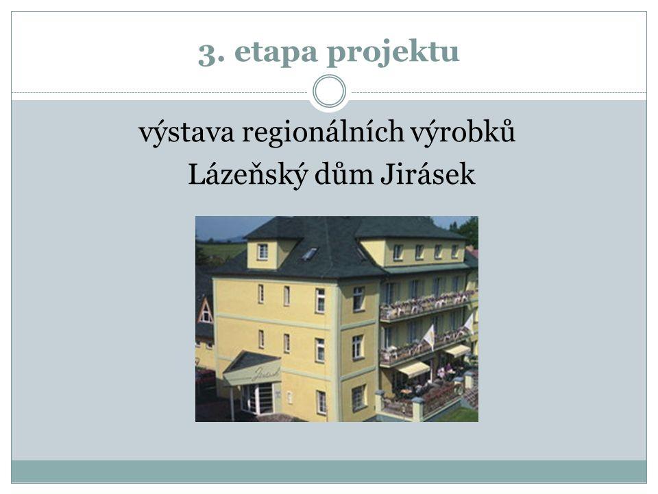 3. etapa projektu výstava regionálních výrobků Lázeňský dům Jirásek