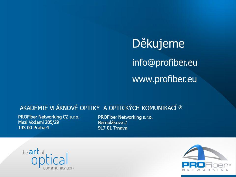 PROFiber Networking CZ s.r.o. Mezi Vodami 205/29 143 00 Praha 4 PROFiber Networking s.r.o.