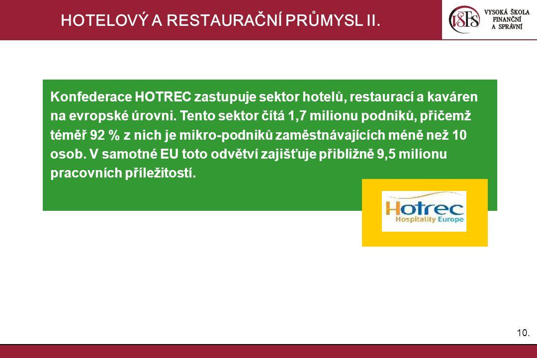 10. HOTELOVÝ A RESTAURAČNÍ PRŮMYSL II.