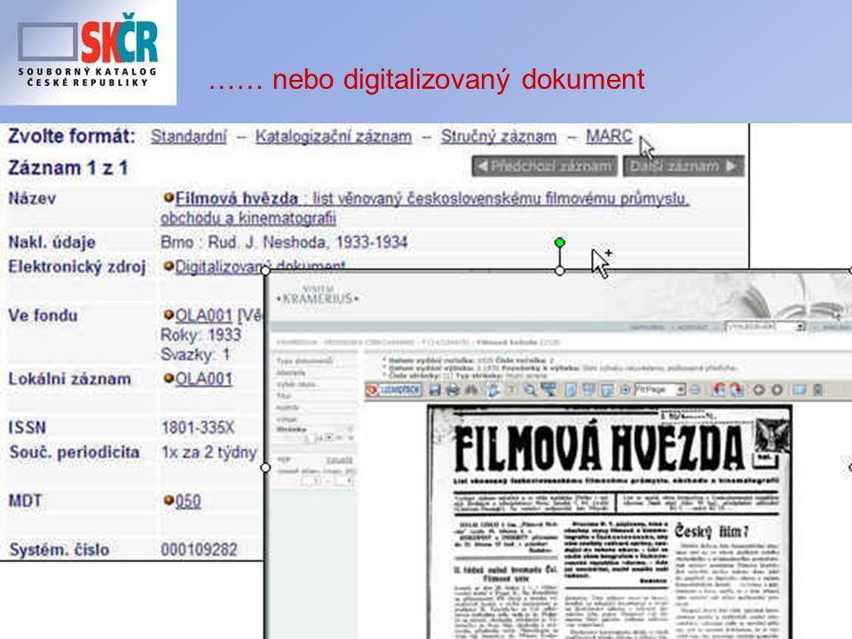 19 …… nebo digitalizovaný dokument