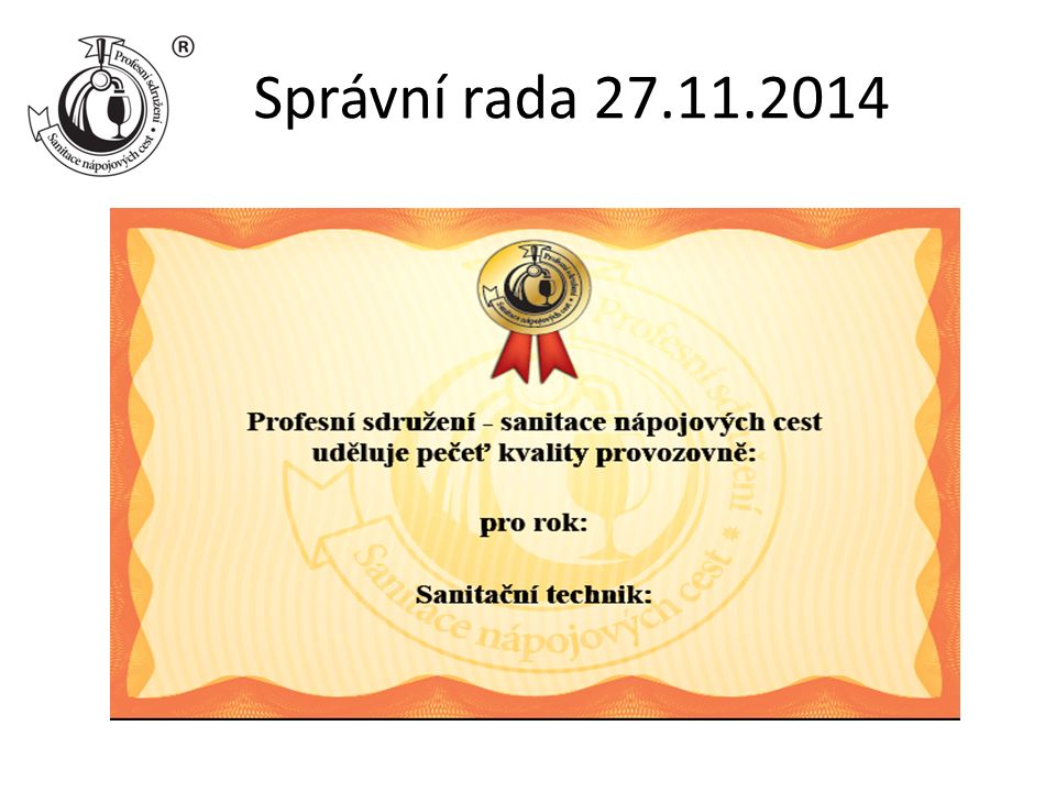 Správní rada 27.11.2014
