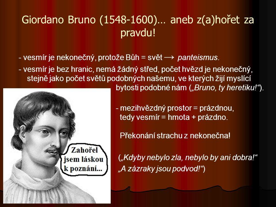 Giordano Bruno (1548-1600)… aneb z(a)hořet za pravdu.