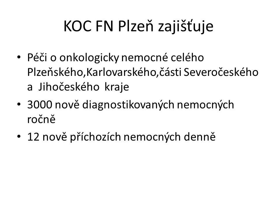 ORAK FN Plzeň 3 lůžkové stanice každá má 25 lůžek 3500 hospitalizovaných ročně 10 přijatých/propuštěných denně to znamená 30-35 nemocných o které je třeba se přes den postarat