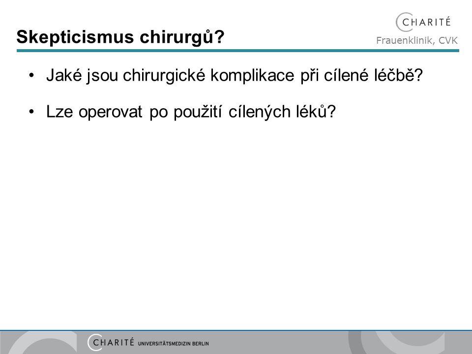 Frauenklinik, CVK Skepticismus chirurgů. Jaké jsou chirurgické komplikace při cílené léčbě.