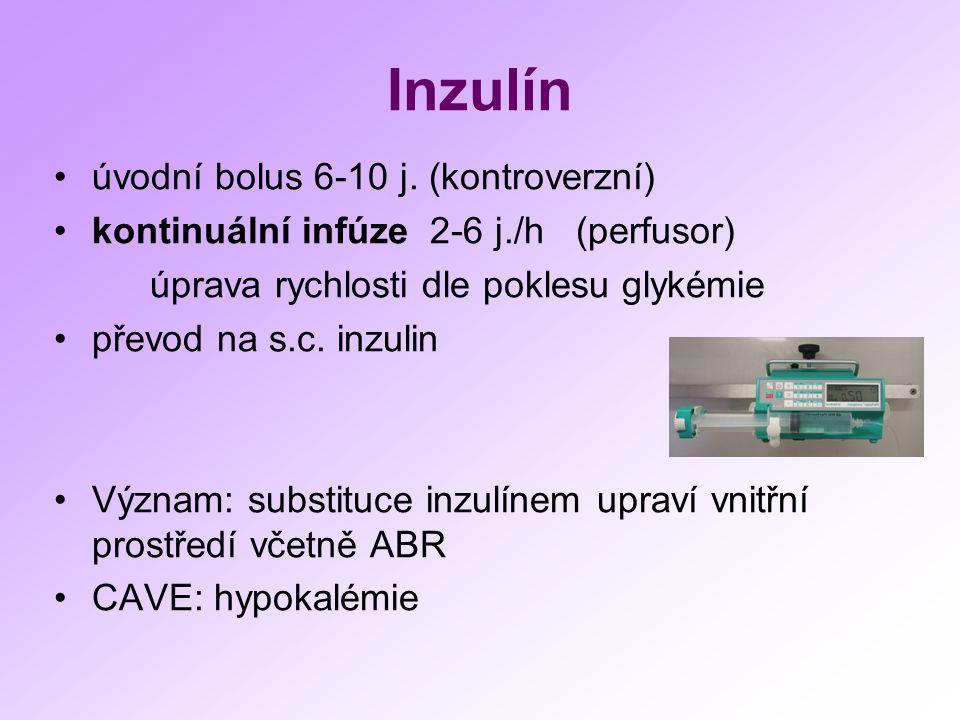 Inzulín úvodní bolus 6-10 j.