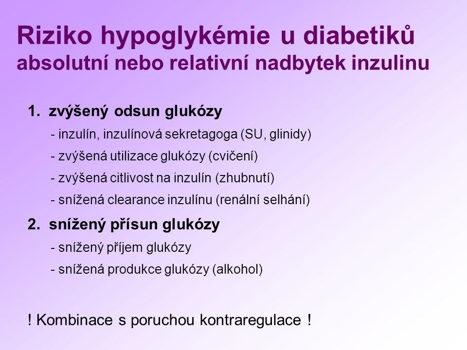 ZÁVĚRY cíleně pátrat po hypoglykémii u diabetika objasnit příčinu hypoglykémie (stanovit diagnózu) zvolit adekvátní léčebná opatření odstraňující hypoglykémii (s ohledem na diagnózu a věk pacienta) Hypoglykémie je nežádoucí pro organismus a ohrožuje jeho život