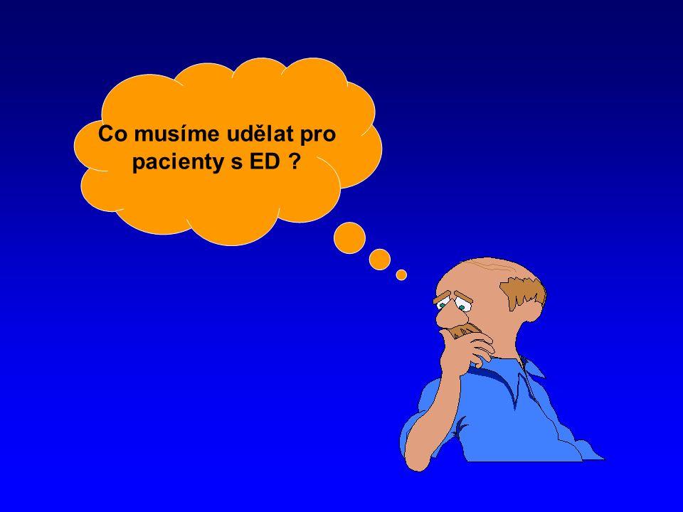 Co musíme udělat pro pacienty s ED
