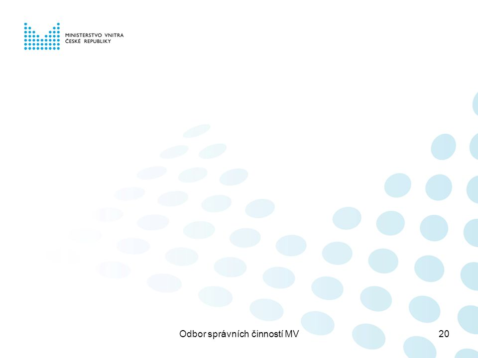 Odbor správních činností MV20