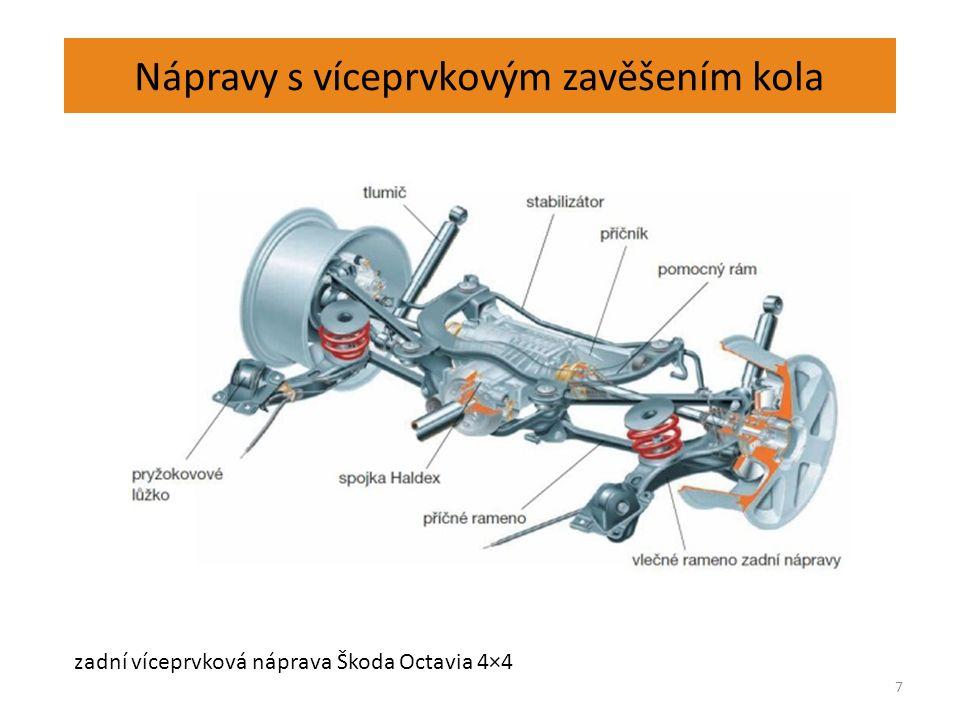 Nápravy s víceprvkovým zavěšením kola 7 zadní víceprvková náprava Škoda Octavia 4×4