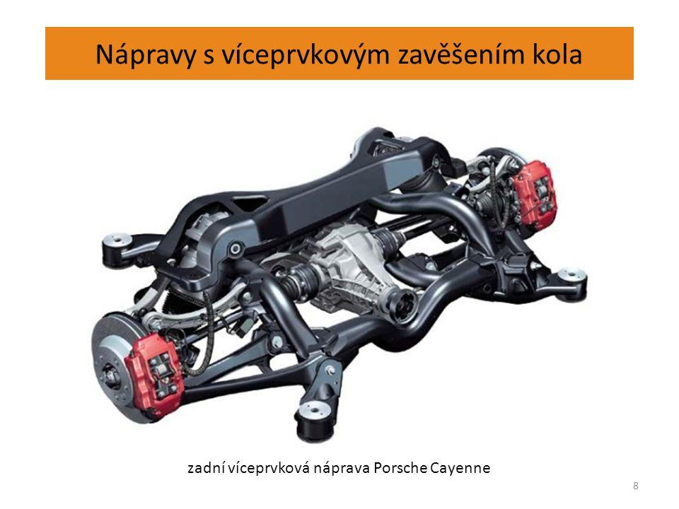 Nápravy s víceprvkovým zavěšením kola 8 zadní víceprvková náprava Porsche Cayenne