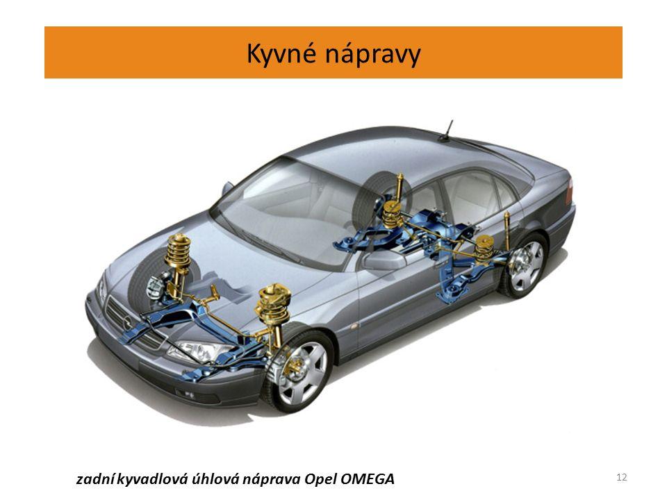 Kyvné nápravy 12 zadní kyvadlová úhlová náprava Opel OMEGA