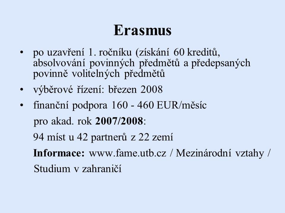 Erasmus po uzavření 1.