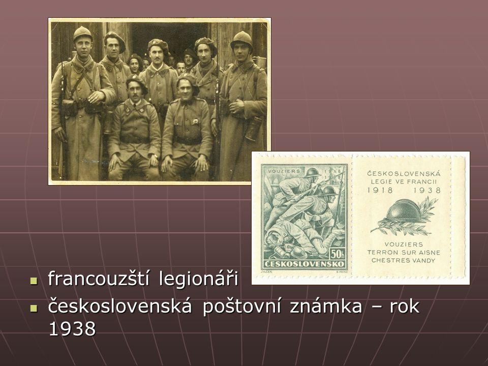 francouzští legionáři francouzští legionáři československá poštovní známka – rok 1938 československá poštovní známka – rok 1938