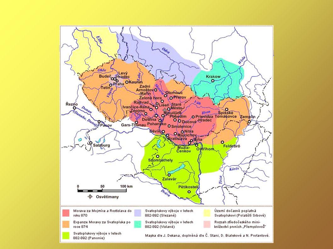 Územní rozsah Velké Moravy za Svatoplukovy vlády