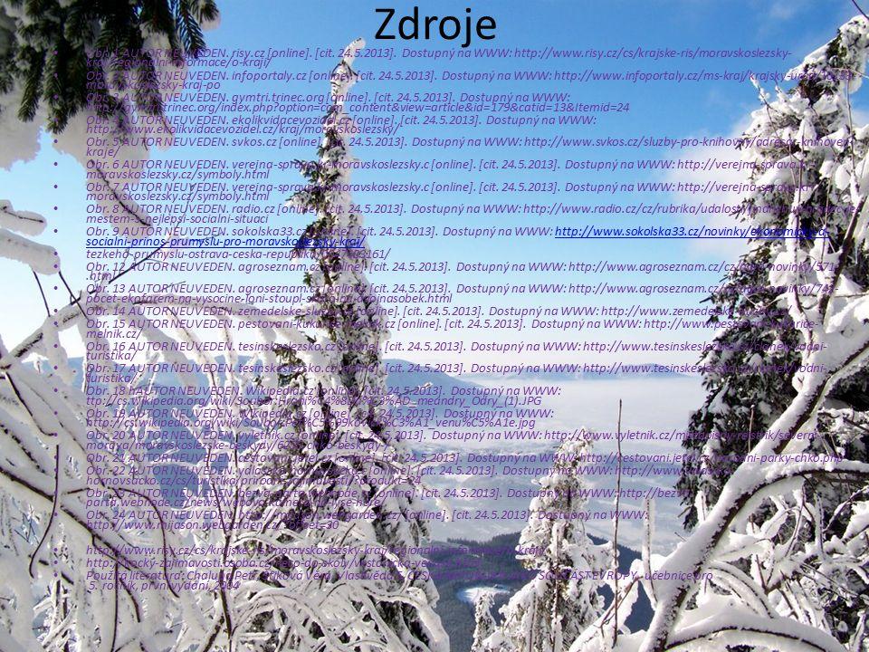 Obr. 24 Zdroje Obr. 1 AUTOR NEUVEDEN. risy.cz [online]. [cit. 24.5.2013]. Dostupný na WWW: http://www.risy.cz/cs/krajske-ris/moravskoslezsky- kraj/reg