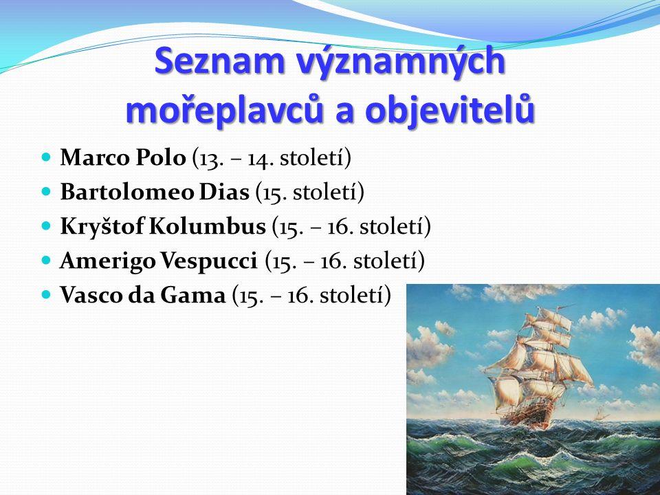 Seznam významných mořeplavců a objevitelů Marco Polo (13.
