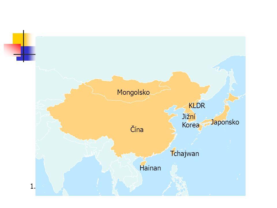 Povrch Převážně hornatý Na západě Himaláje, Ťan Šan, Tibetská náhorní plošina Na východě – Velká čínská nížina Pouště – Gobi, Taklamakan Řeky – Huang He, Chang Jang