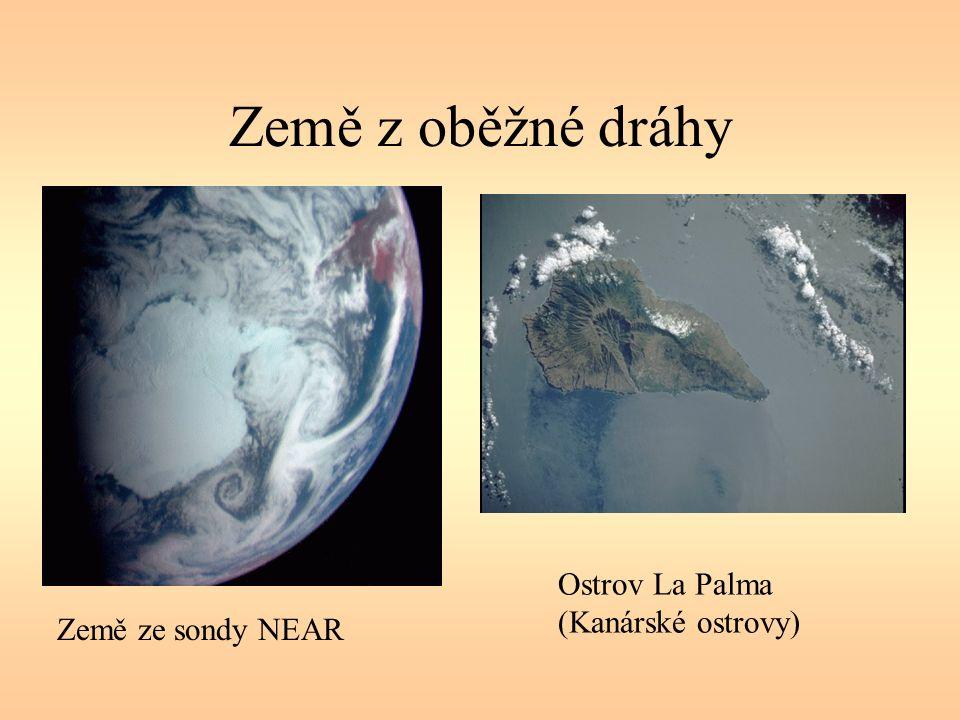 Země z oběžné dráhy Země ze sondy NEAR Ostrov La Palma (Kanárské ostrovy)