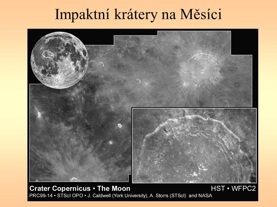 Impaktní krátery na Měsíci