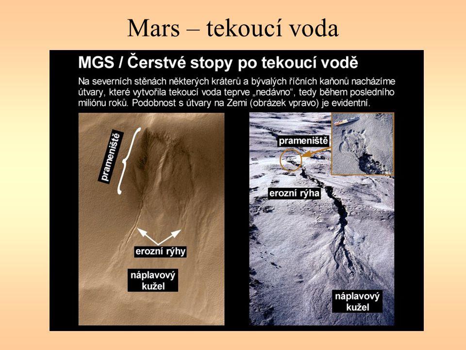Mars – tekoucí voda