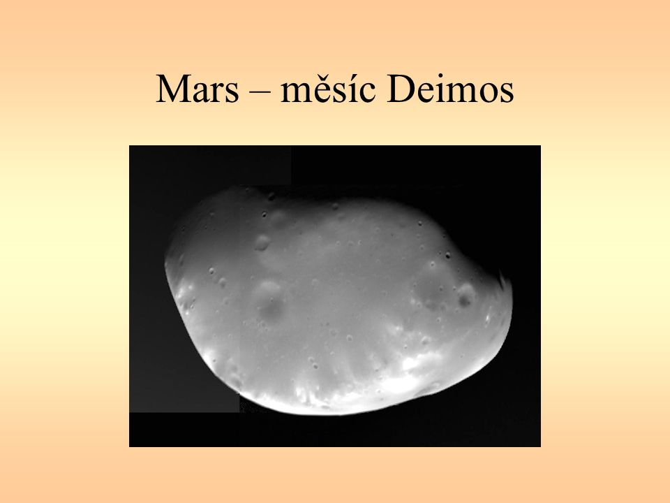 Mars – měsíc Deimos