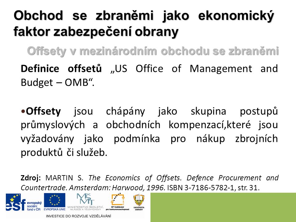 "Definice offsetů ""US Office of Management and Budget – OMB ."