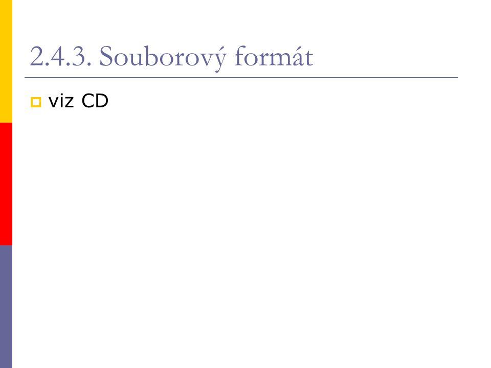2.4.3. Souborový formát  viz CD