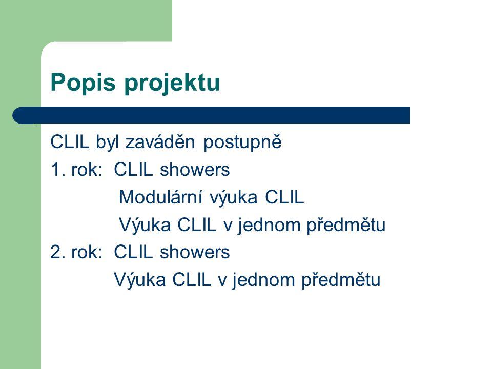 Popis projektu CLIL byl zaváděn postupně 1.