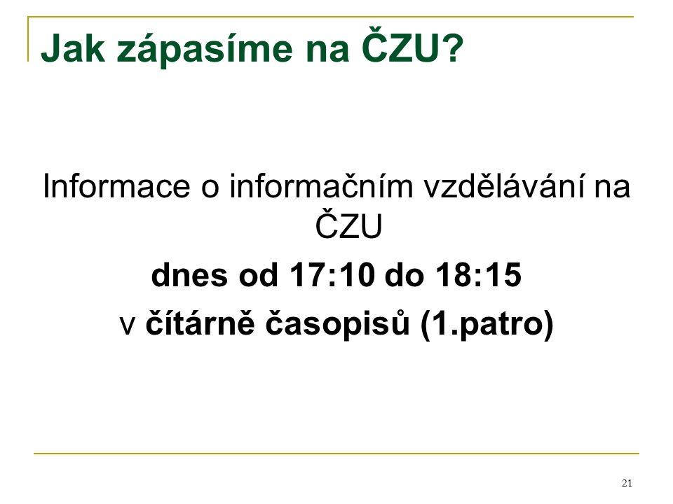 21 Jak zápasíme na ČZU.