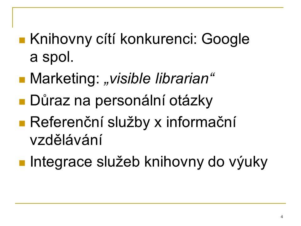4 Knihovny cítí konkurenci: Google a spol.