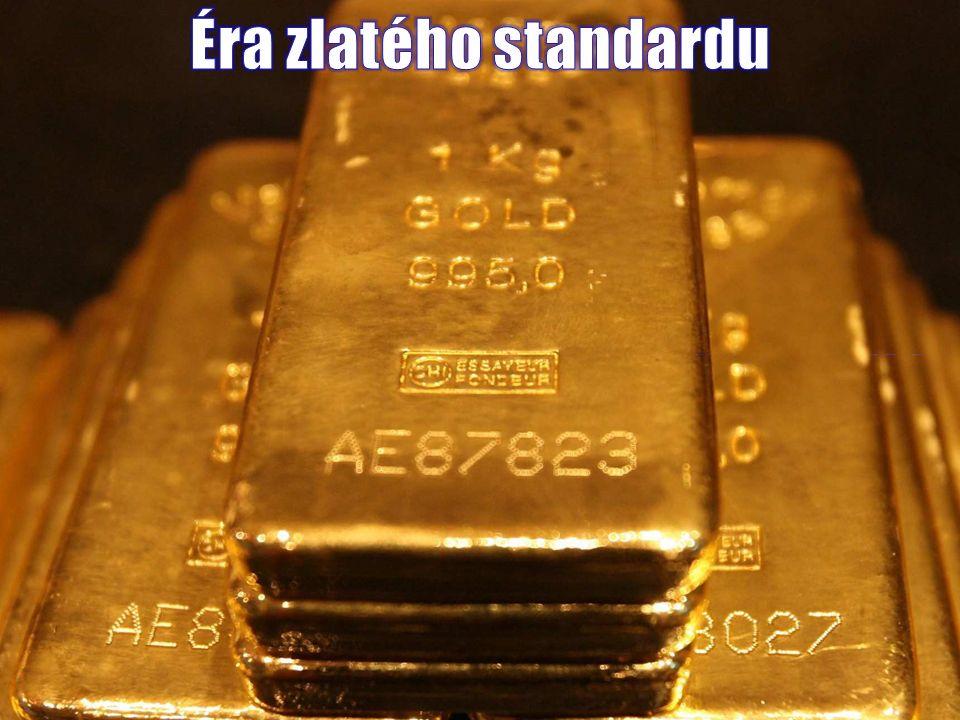  do 1920s mnoho států garantuje zpětnou směnitelnost bankovek a mincí za zlato a centrální banky drží rozsáhlé zlaté rezervy  měny jednotlivých států jsou pouze specifické hmotnostní jednotky určující množství zlata které reprezentují  s měnami nemá smysl obchodovat, směnné poměry jsou pevné  převody měn odpovídají převodům jednotek ve fyzice (např.
