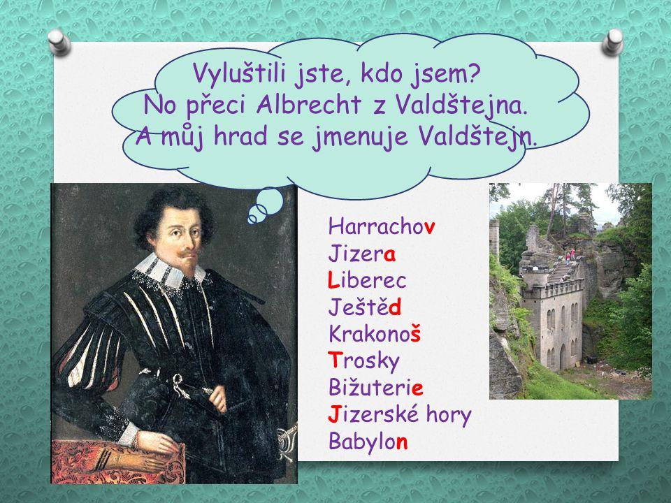 Vyluštili jste, kdo jsem.No přeci Albrecht z Valdštejna.