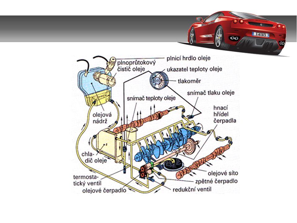 3.Hlavní části a)Olejová čerpadla – musí zajistit při velkém čerpaném množství i dostatečný tlak.
