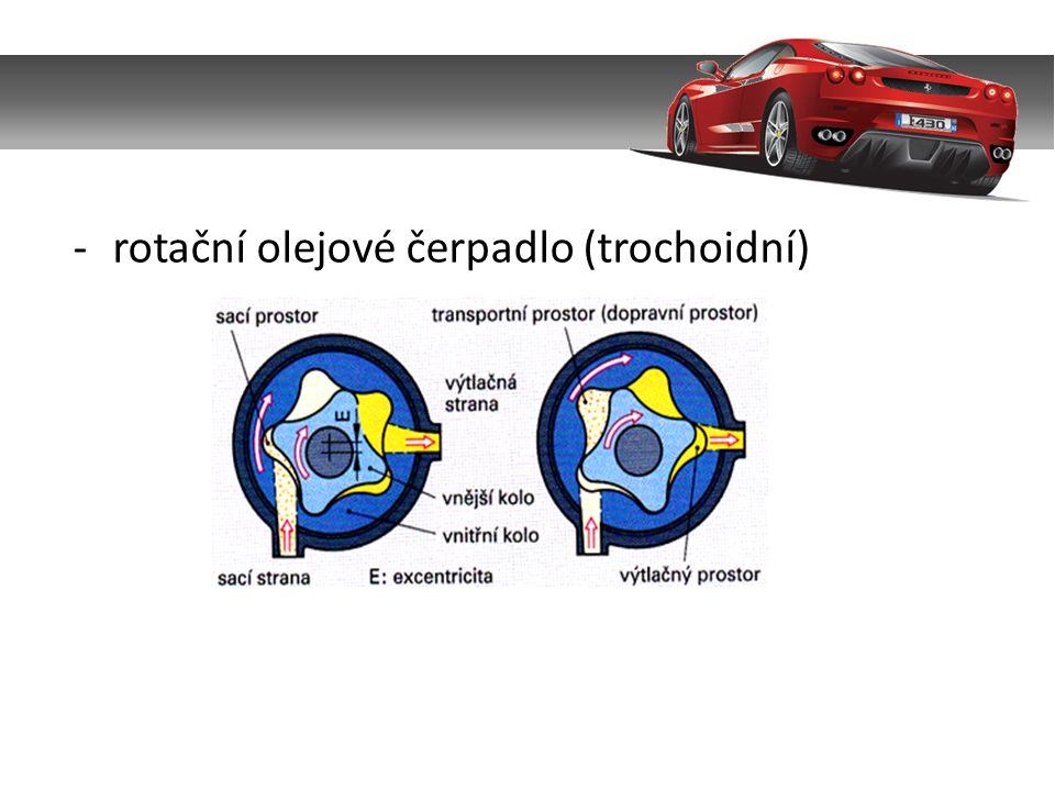 b) Tlakoměr oleje – slouží ke kontrole tlaku oleje a je umístěn mezi čerpadlem a ložisky.