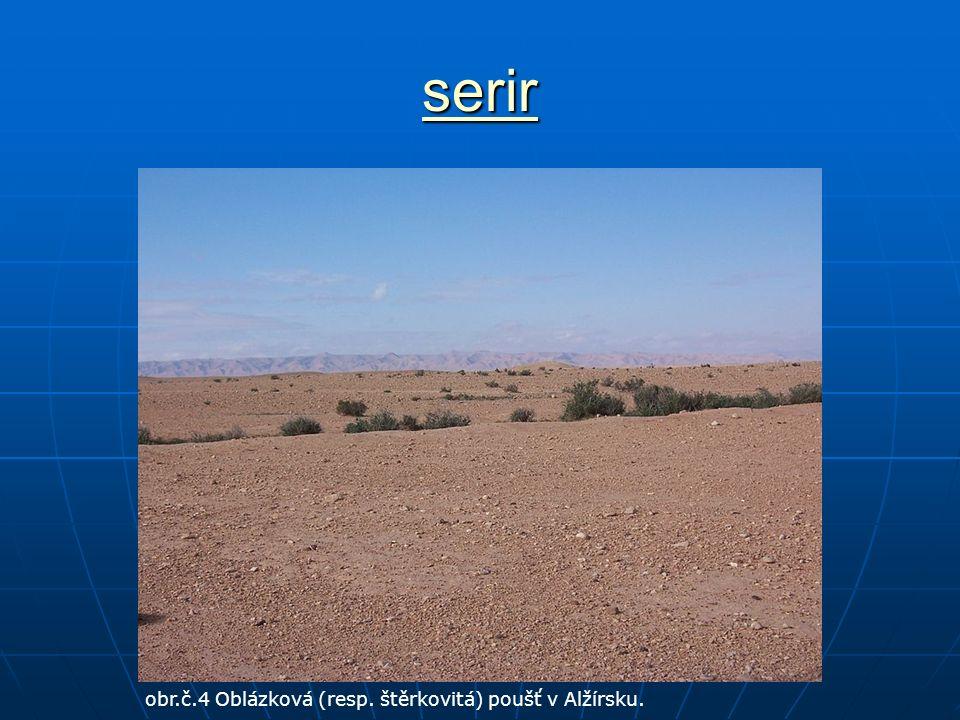 serir obr.č.4 Oblázková (resp. štěrkovitá) poušť v Alžírsku.