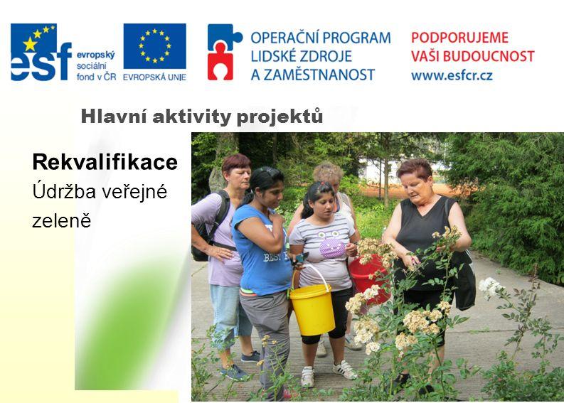Hlavní aktivity projektů Rekvalifikace Údržba veřejné zeleně