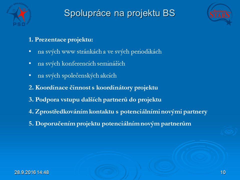 28.9.2016 14:5010 Spolupráce na projektu BS 1.