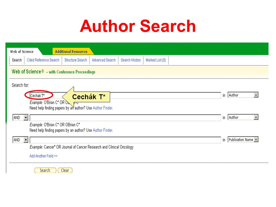 Author Search Cechák T*
