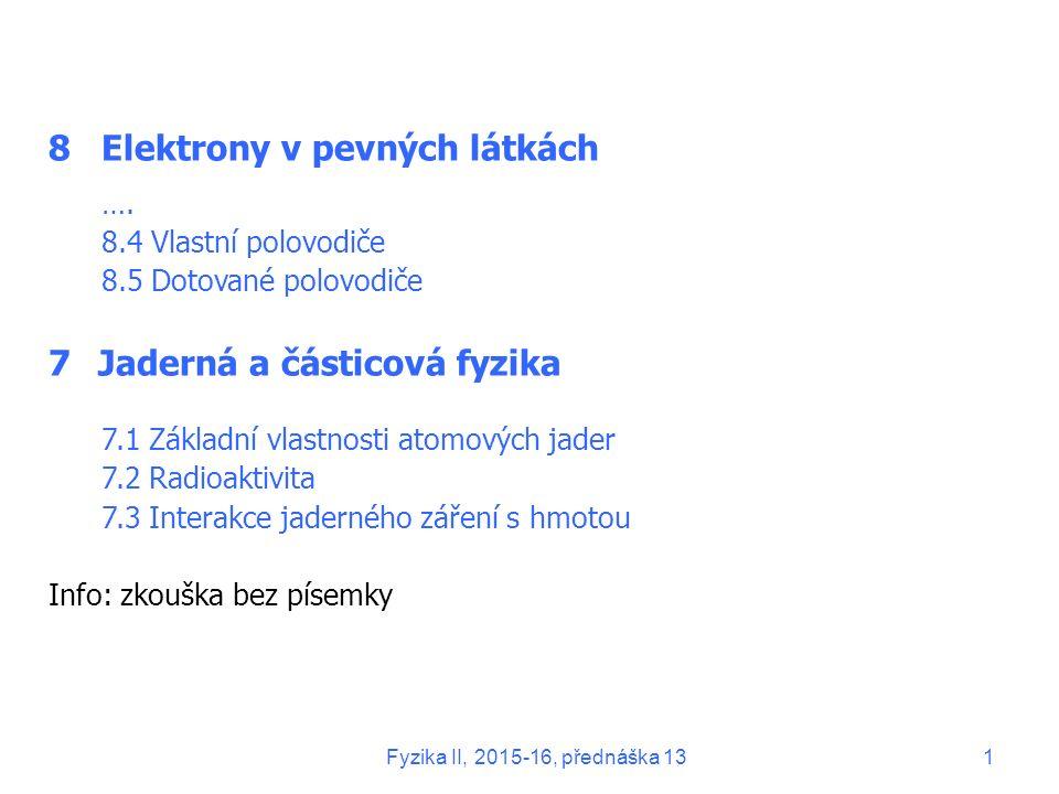 Fyzika II, 2015-16, přednáška 1312