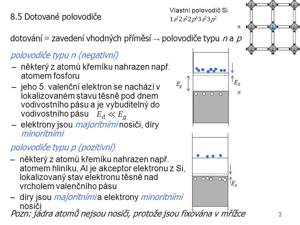 –některý z atomů křemíku nahrazen např. atomem fosforu –jeho 5.