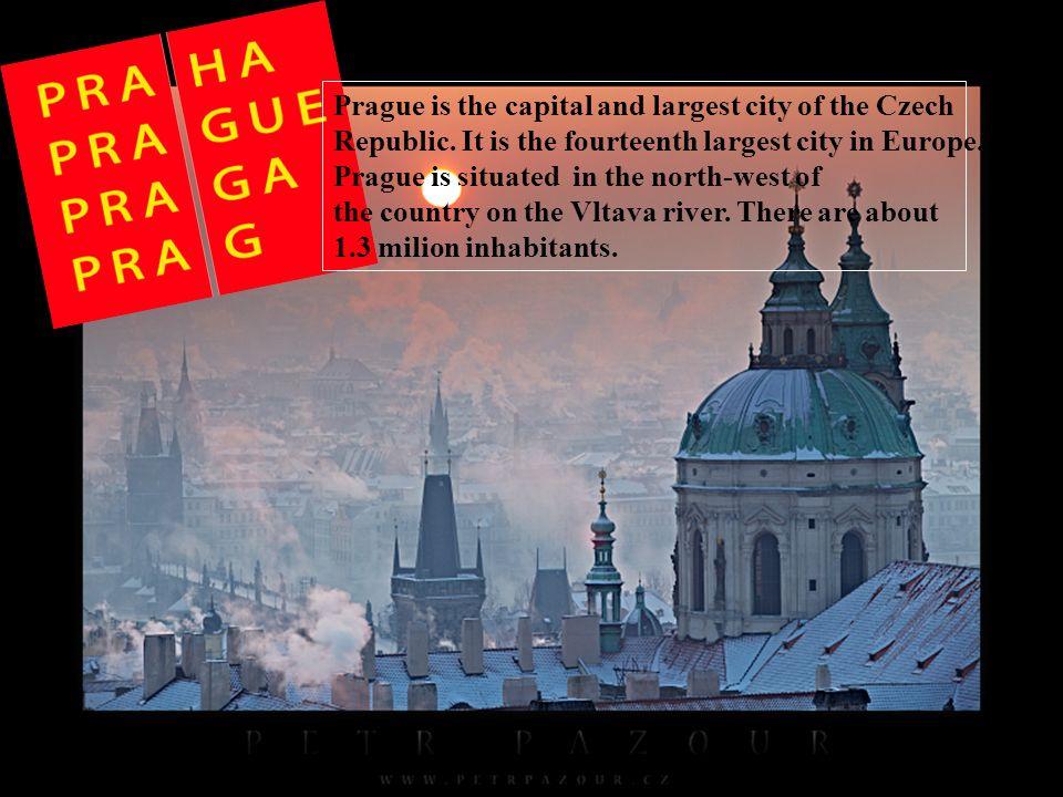 Prague Castle is the most important castle in the Czech republic.