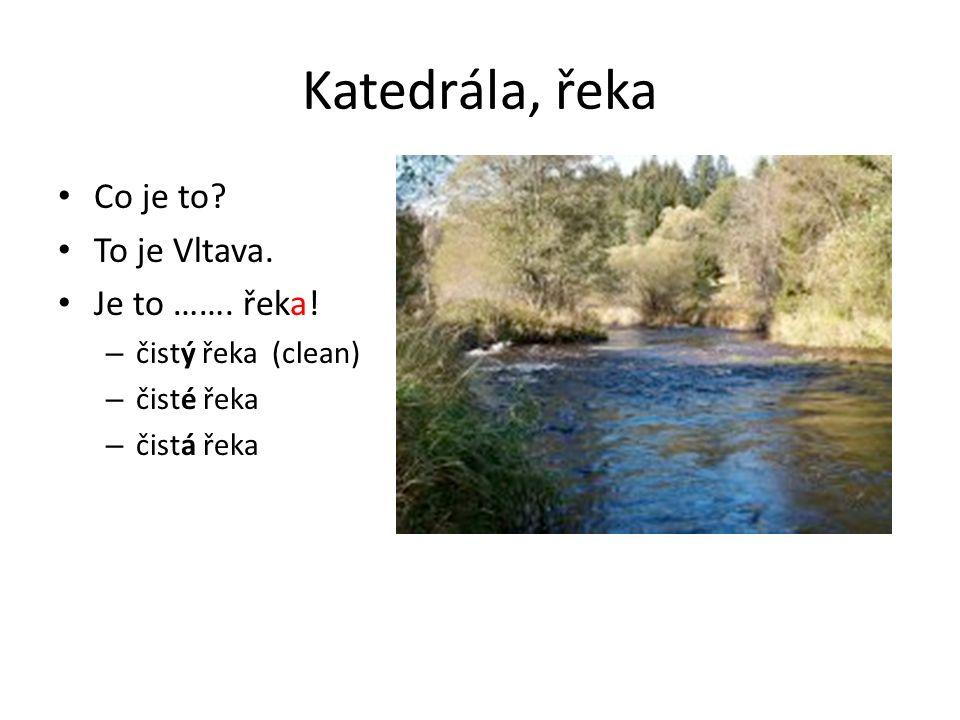 Katedrála, řeka Co je to. To je Vltava. Je to …….