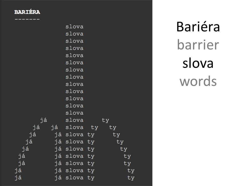 Bariéra barrier slova words