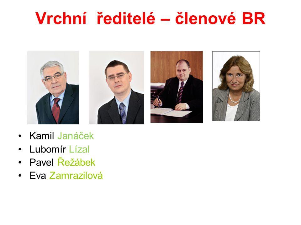 Vrchní ředitelé – členové BR Kamil Janáček Lubomír Lízal Pavel Řežábek Eva Zamrazilová