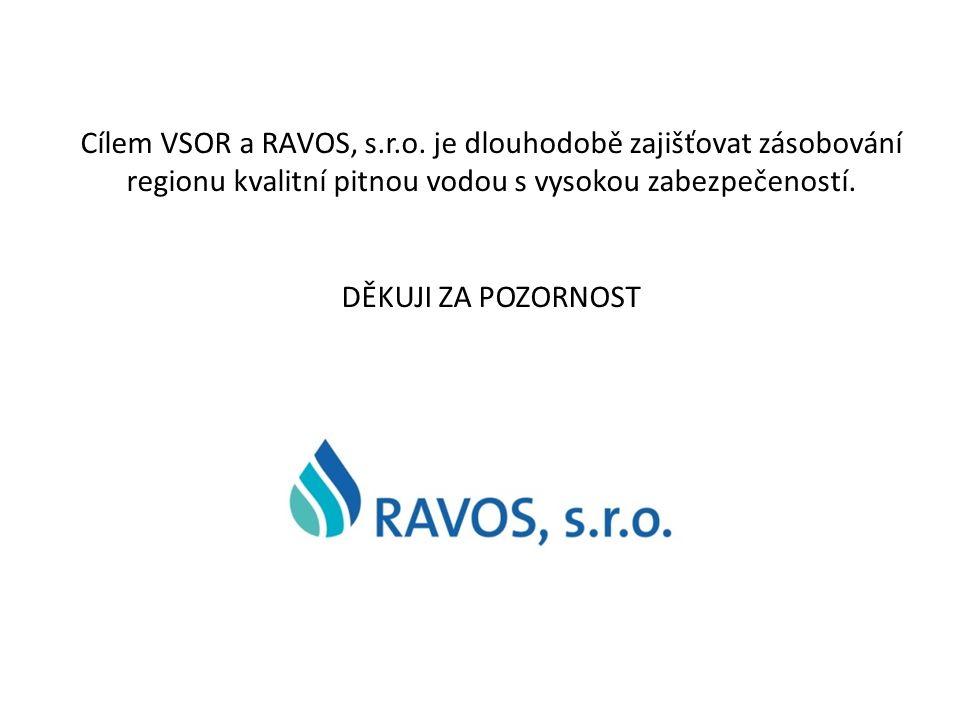 Cílem VSOR a RAVOS, s.r.o. je dlouhodobě zajišťovat zásobování regionu kvalitní pitnou vodou s vysokou zabezpečeností. DĚKUJI ZA POZORNOST