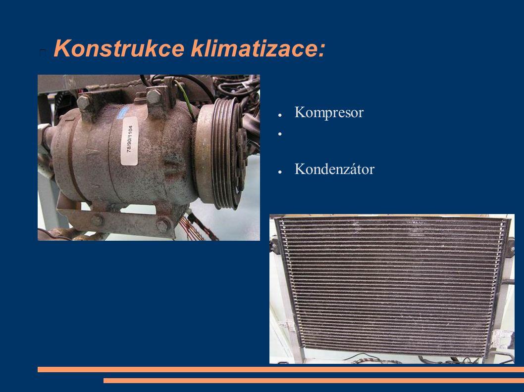Konstrukce klimatizace: ● Kompresor ● ● Kondenzátor