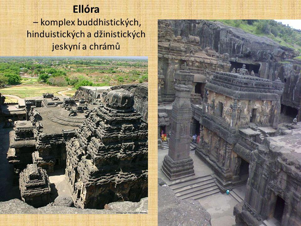 Ellóra – komplex buddhistických, hinduistických a džinistických jeskyní a chrámů