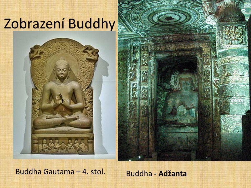 Zobrazení Buddhy Buddha Gautama – 4. stol. Buddha - Adžanta